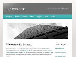 free homepage for website design free dreamweaver business website templates