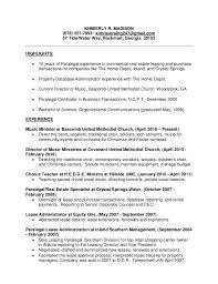 Paralegal Resume Template Paralegal Resume Kimberly Madison Paralegal Resume 2017