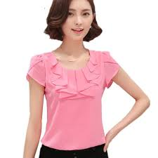 womens tops and blouses 2017 office shirts blouses white pink