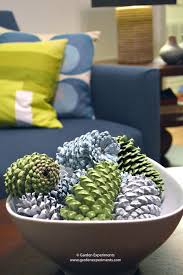 pine cone table decorations painted pine cone table decoration