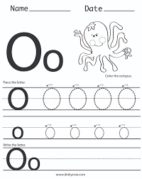 letter o preschool worksheets worksheets