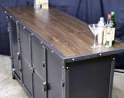 Metal Bar Cabinet Industrial Bar Cart Etsy