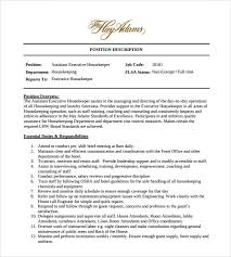 Sample Housekeeper Resume by Housekeeping Resume Pdf Sample Resume Of Executive Housekeeper