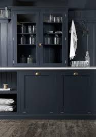 navy kitchen cabinets transitional laundry room devol kitchens