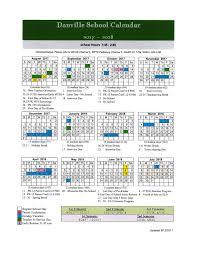 2017 2018 school calendar danville school
