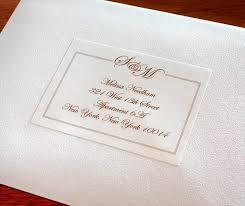 wedding invitation address labels wedding invitation address