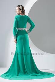 long sleeve deep v neck evening dress prom gown