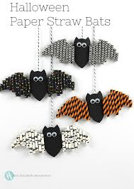 halloween paper straw bats bats craft and halloween ideas