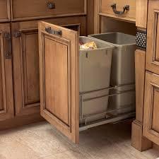Kitchen Trash Can Ideas Uncategories Under Cabinet Garbage Bin Sliding Trash Can Under