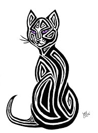 tribal cat design by aerynoustinne on deviantart