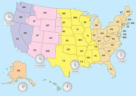 us map time zones with states map time zones usa us map with time with 700 x 490 map of usa states