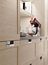 recessed cabinet pulls give modern look u2014 the homy design
