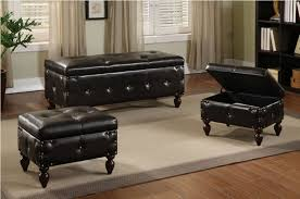 Leather Storage Bench Seat Bedroom Storage Bench Seat Home Design Ideas