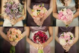 bridesmaid bouquets wedding flower trends mismatched bridesmaid bouquets