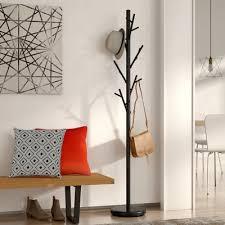 mercury row freestanding black coat rack u0026 reviews wayfair