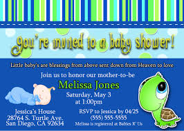 baby boy shower invitations turtle turtle boy baby shower