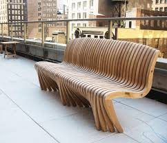 Outdoor Benche - such curved garden benches add the beauty to the outdoor with