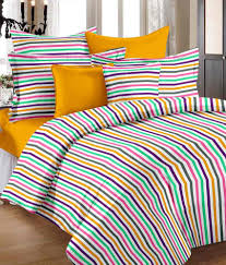 Cotton Single Bed Sheets Online India Story Home Stripe Design Cotton 2 Single Bed Sheets With 2
