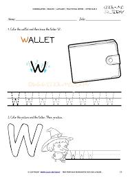 handwriting worksheet letter w