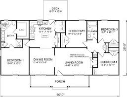 house plans 4 bedroom 4 bedroom rectangular house plans modular homes floor plans and