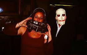 Costume Halloween Reverse Bear Trap Mask 3 Steps