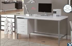 60 Office Desk I 7045 I 7046 Hollow Silver Metal 60 L Office Desk