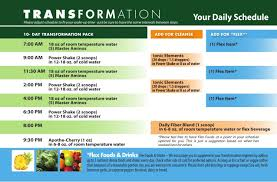 purium 10 day transformation daily schedule
