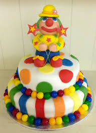 how to make a clown birthday cake diy bday pinterest