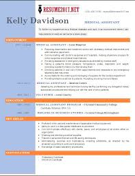 Samples Of Medical Assistant Resume by Resume Templates For Medical Assistant Certified Medical
