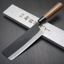 japanese yamamoto aogami blue steel 2 nakiri kitchen knife 165mm