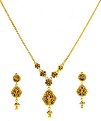 double necklace set images 22k gold double design set ajns59982 uniquely designed 22k jpg