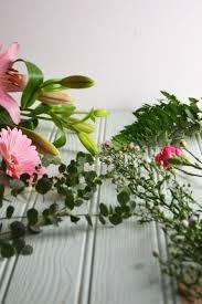 Flower Arrangement Techniques by Symmetrical Front Facing Arrangement Wallflower Kitchen