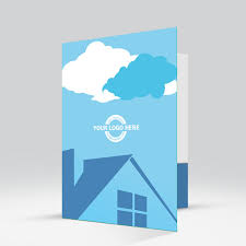 aktenordner design real estate roof with clouds a presentation folder design that