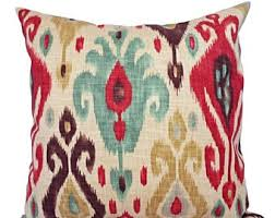 Etsy Decorative Pillows Ikat Pillow Covers Etsy