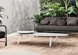 contemporary coffee table stone oval garden sullivan minotti
