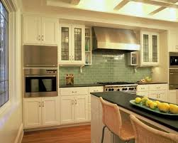 Green Backsplash Kitchen Green Subway Tile Kitchen Backsplash Supreme Glass Tiles Light