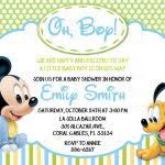 Free Mickey Mouse Baby Shower Invitation Templates - mickey mouse baby shower invitations inside free mickey mouse baby