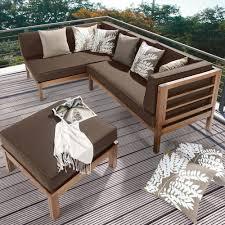 Garten Lounge Gunstig Ecklounge 3 Tlg Natur Inkl Auflagen