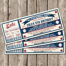 vintage baseball ticket invitation baseball birthday party