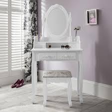 Coiffeuse Design Pour Chambre by Capri Chaise Pour Coiffeuse Blanc U0026miroir De Coiffeuse 5 Tiroirs
