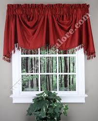 anna austrian valance faux silk burgundy united curtains