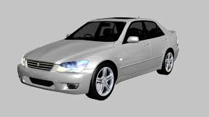 altezza car 2015 3d model toyota altezza rs200 cgtrader