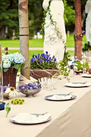 rustic dinner table settings garden wedding table setting stock photo image of bright garden