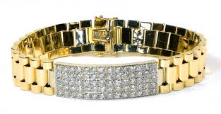 rolex bracelet diamonds images Rolex style 7ct diamond bracelet 14k white yellow two tone gold jpg