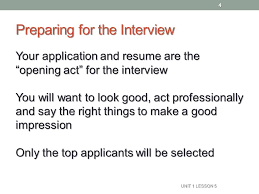 Job Application And Resume by Job Interview Naviance Family Connection Ppt Download