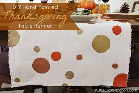 diy painted thanksgiving table runner thankful at home a