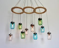 creative diy upcycled hanging glass chandelier lighting for rustic