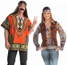 Hippie Halloween Costumes Female Hippie Groovy Orange 60 U0027s Hippie Couples Costume