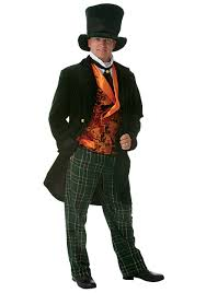 Mad Hatter Halloween Costumes Girls Size Mens Costumes Size Halloween Costumes Men