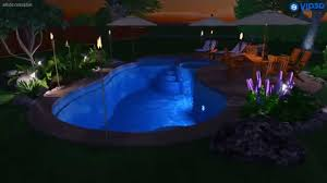 Backyard Leisure Pools by Fiberclassy Pools 3d Pool Design The Allure 35 Youtube